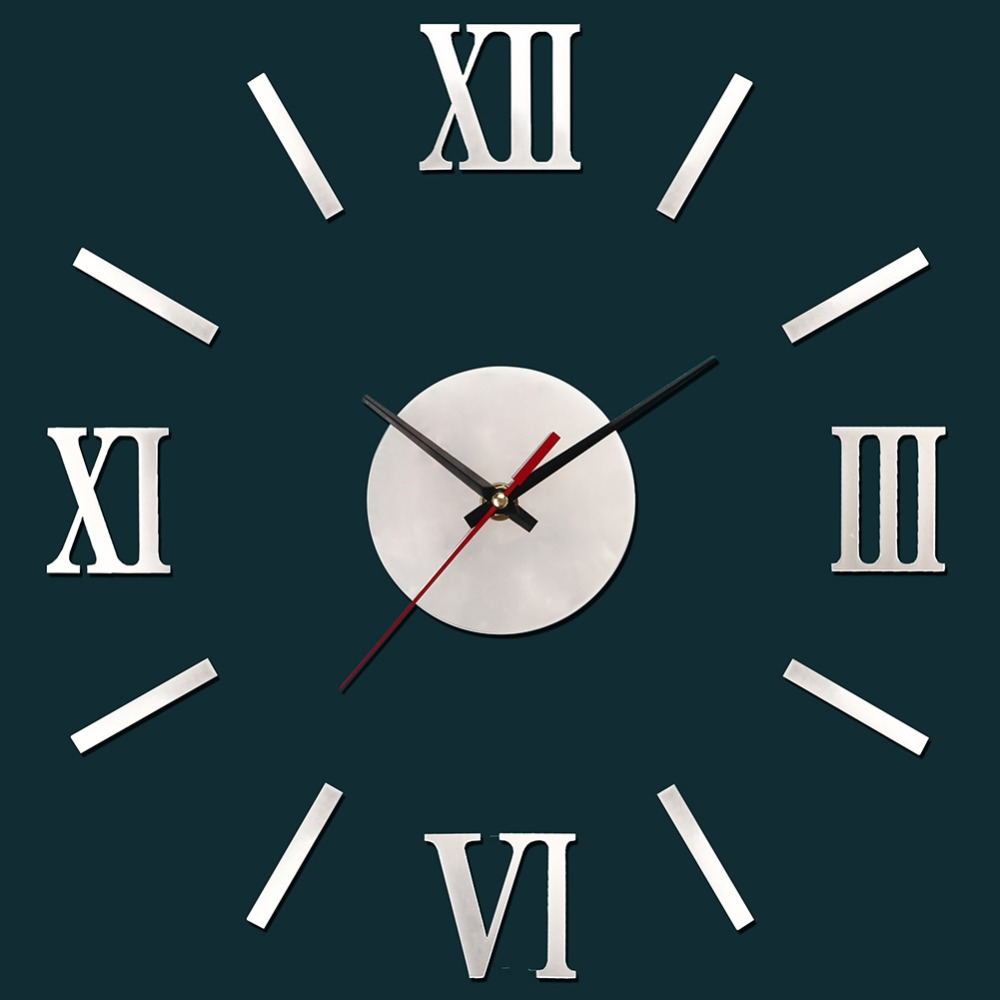 Home decoration metallic feeling 3d diy funny wall clock modern home decoration metallic feeling 3d diy funny wall clock modern design decorative fashion roman numeral wall clocks in underwear from mother kids on amipublicfo Gallery