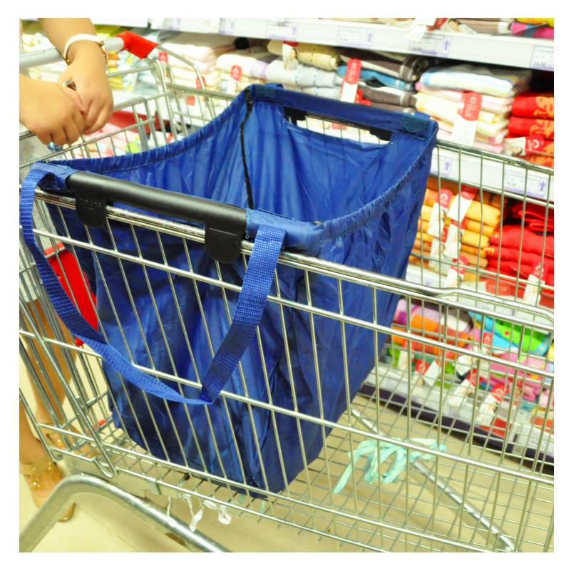 d32a2a7201f Hot Large Capacity Foldable Trolley Supermarket Shopping Bags High ...