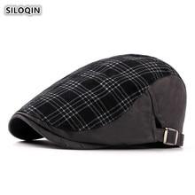 SILOQIN Autumn Fashion Mens Snapback Cotton Berets Adjustable Size Womans Summer Hat Leisure Tourism Mountaineering Cap Gorras