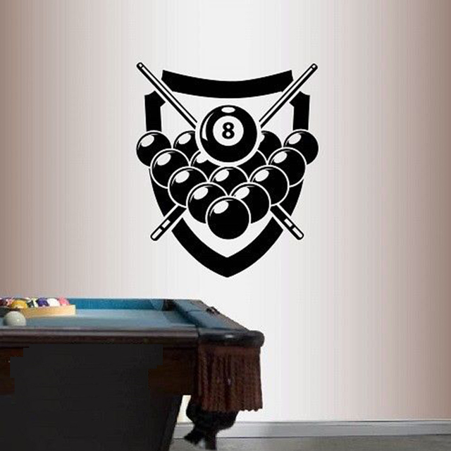 Vinyl Decal Poolroom Billiards Pool Cue Sticks Any Room Wall Art ...