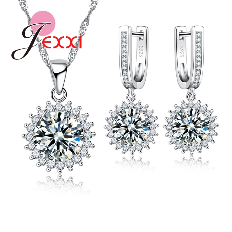 JEXXI Simple Elegant Brand 925 Sterling Silver Bridal Wedding