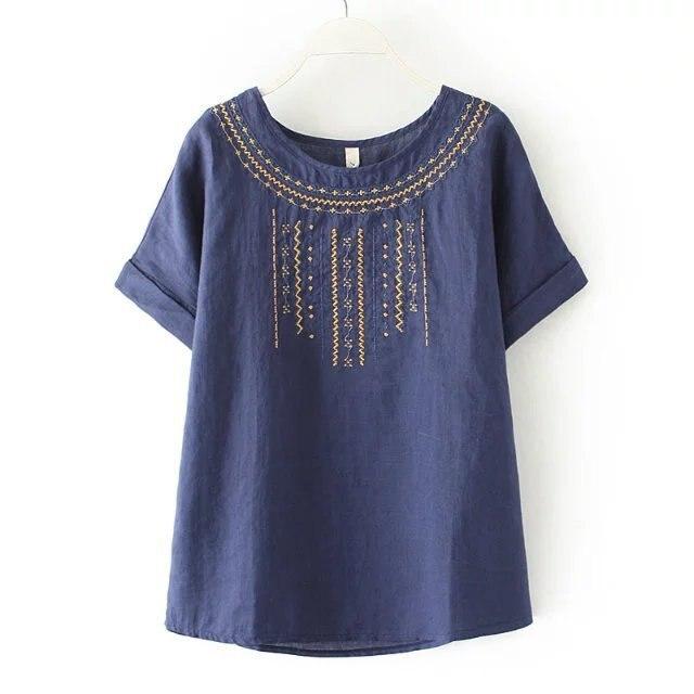 Европейский женская большой футболка на лето 2016 девушку цветочный печати сплошной цвет плюс размер свободные хлопок белье футболки хлопок