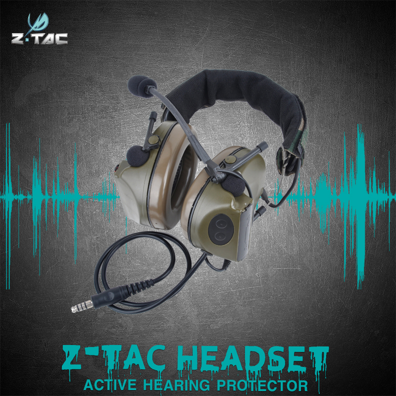 Element Z-tactical 4th Generation Chip Headset Comtac Ii Protection  Noise Reduction Hunting Headphones Z041