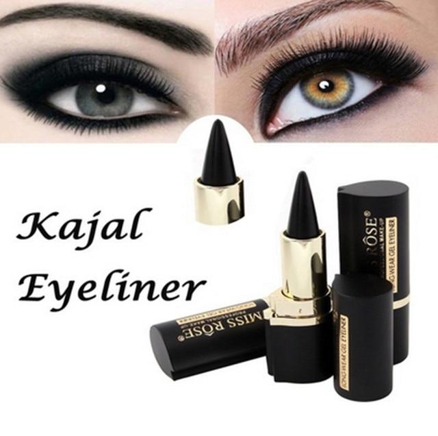 MSQ paleta de sombra de ojos maquillaje ojos lápiz Longwear negro Gel delineador de ojos pegatinas delineador de ojos Wateroroof hacer al por mayor Z4