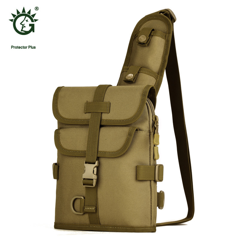 multi-functional male chest travel bag leisure bag high grade Nylon military wear-resisting bag one shoulder camouflage girl