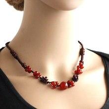 d5311b33c108 La joyería exótica hecha a mano pura declaración hecha a mano collar de  piedra
