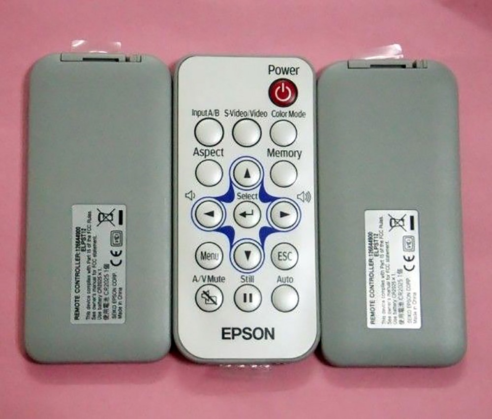 Buy ORIGINAL FOR EPSON ELPST12 126644900 PROJECTOR REMOTE CONTROL EMP-S1 EMP-S3 EMP-X3 for only 22.99 USD