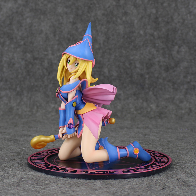 16.5cm Anime Yu-Gi-Oh Duel Black Magician Girl PVC Action Figure Sexy Girl Resin Collection Model Toy Gift Cosplay Free Shipping magift bluetooth headphones wireless wired headset with microphone for sports mobile phone laptop free russia local delivery hot