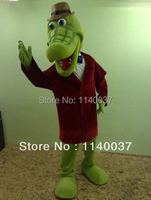 mascot Crocodile Mascot Costume Cartoon Character Crocodile Gena Mascotte Outfit Suit Fancy Dress