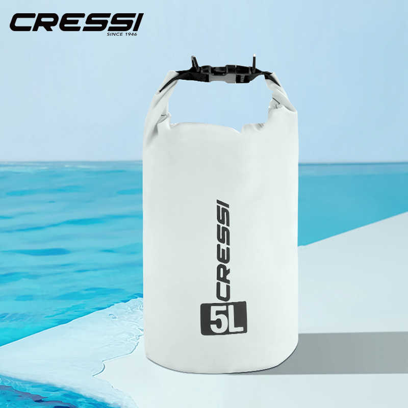Cressi Dry Bag Diving Bags Big Volume Diving Equipment Bag Waterproof Bag for Snorkeling Dive 5L 10L 15L 20L Easy Carry
