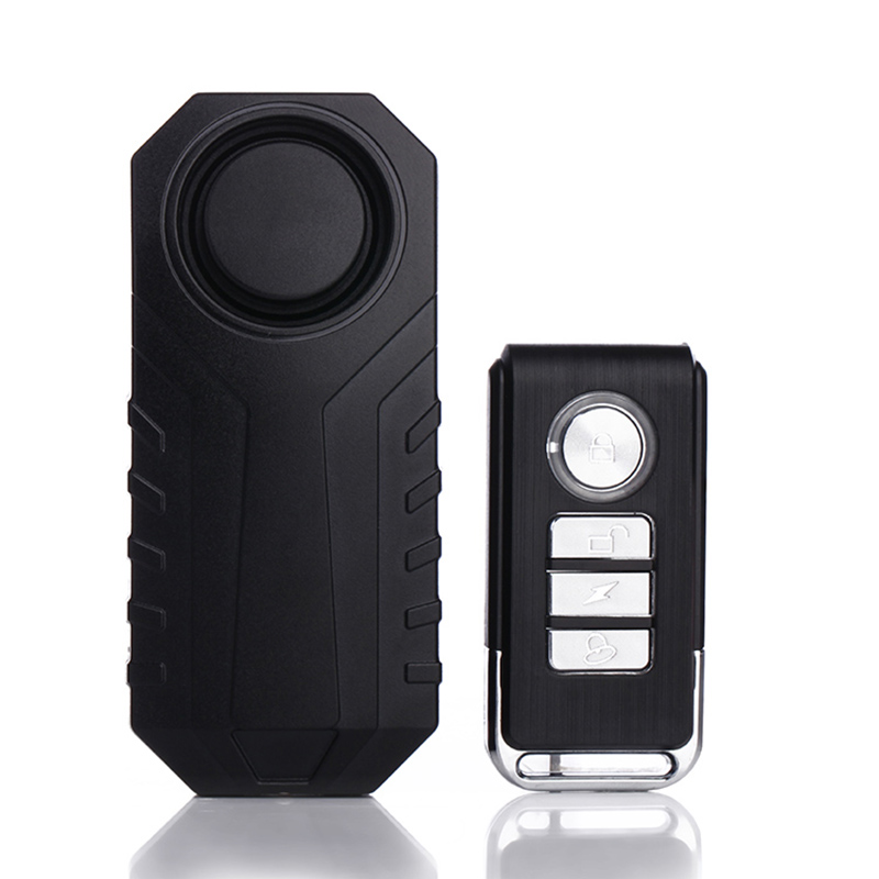 Bike Wireless Anti-theft Alarm Battery Powered Waterproof Bicycle Security Alarm Vibration Sensor Car Styling