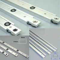 Alliage d'aluminium t-pistes fente Miter piste et barre d'onglet curseur Table scie Miter jauge tige outils de travail du bois bricolage