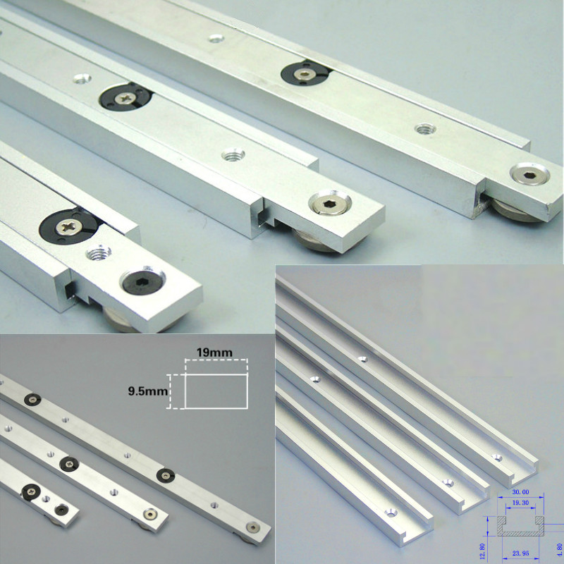 Aluminium Alloy T-Trek Slot Miter Track dan Mitra Bar Slider Meja Melihat Mitra Batang Pengukur Alat DIY