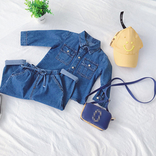 Kids Denim Set Baby Boy Girl Jackets for Boys + Jeans Pants Two Piece  Suit autumn Spring clothes Sets