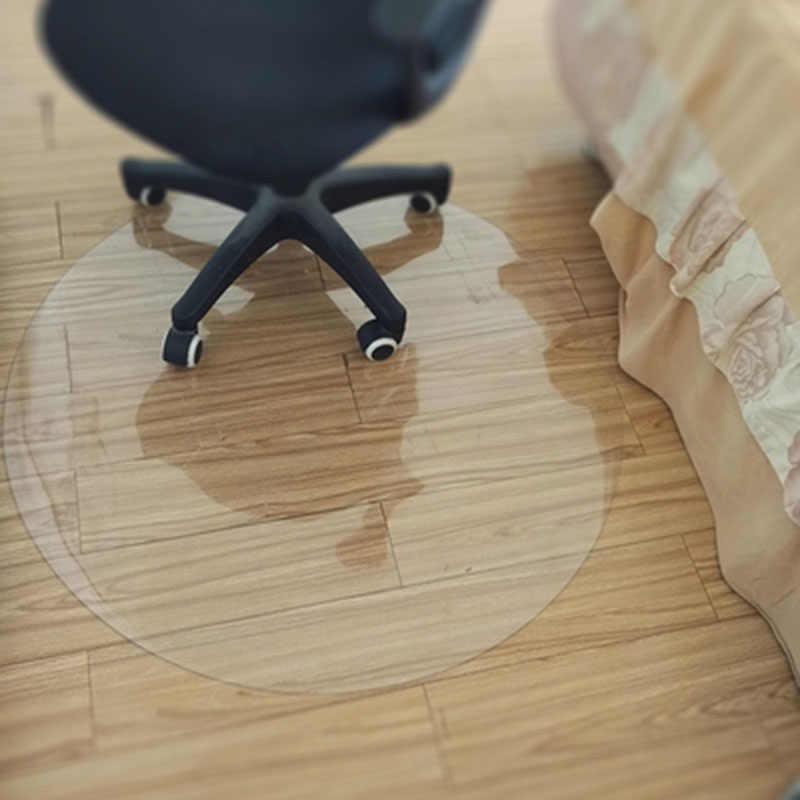 Pvc Transparent Wasserdicht D Wasser Runde Matte Holz Boden Schutz Matte Computer Stuhl Matten Protektoren Kunststoff Weichen Teppich Teppich