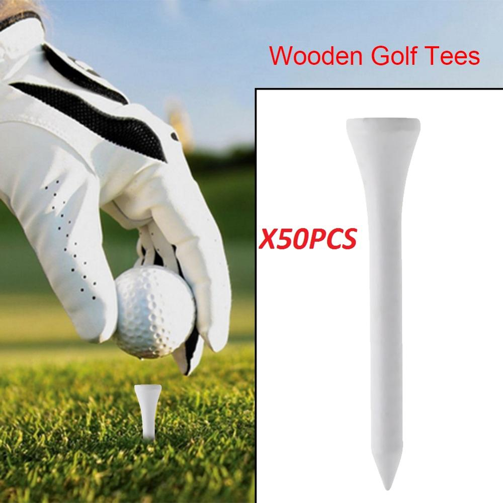 20pcs/set Wooden Golf Tees 55mm Professional Golf Wood Tees Driver Training Golf Accessories Golf Ball Nails