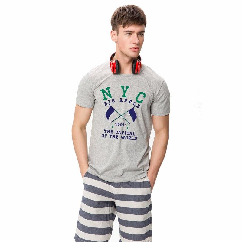 HanHent Mannen NYC New York City T-shirts Print Man Katoen Casual - Herenkleding - Foto 3
