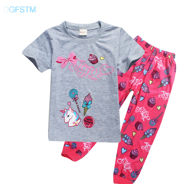 4eb9da4939 2018 Unicorn Pajamas for Girls 2018 Summer Children Sleepwear Jojo Siwa  Pijama Unicornio Pyjamas Toddler Animal Children Clothes
