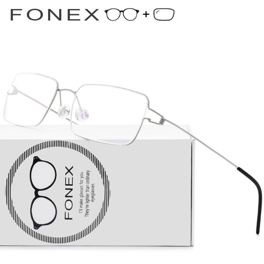 Титан очки Для женщин безвинтовое очки 2018 народов глаз квадратный Близорукость Оптические Frame Дании корейский Для мужчин очками