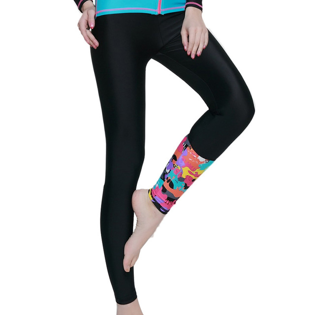 fddb871475776 Fitness Running 2017 Yoga Lycra Women Printed Tights Pants Rash Guard Sun  Protected Snorkeling Swimming Spandex