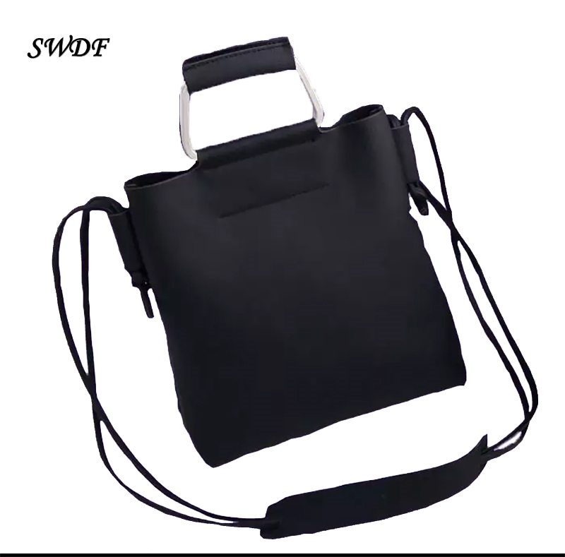 SWDF-Vintage Bucket Shoulder Bags Woman Retro Handbag Over The Handbags for Girls Single Strap Lady Women Female Messenger