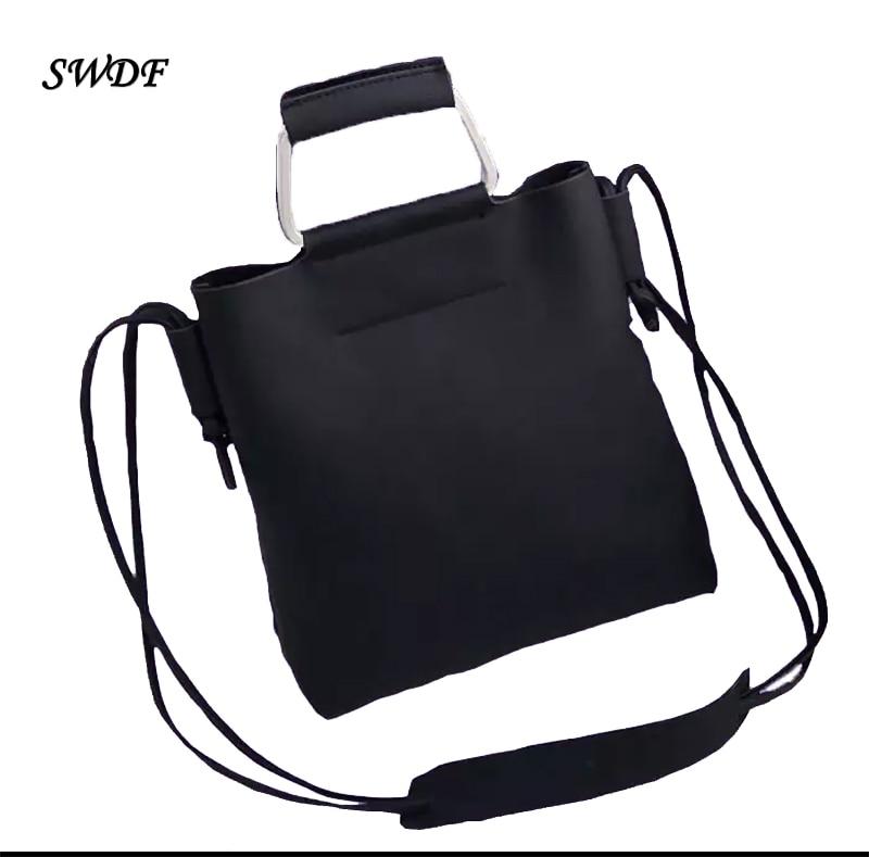SWDF-Vintage Bucket Shoulder Bags Woman Retro Handbag Over The Handbags for Girls Single Strap Lady Women Female Messenger