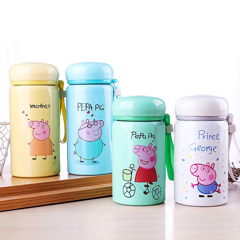Peppa Pig Student Boy Girl Water Cup Insulation Anti-fall Portable Cup Anime Action Figure Best Gift Toys