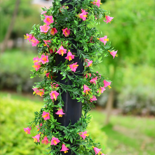 5 PCS 5.9 FT Artificial flower plastic vine wedding&party decoration morning glory, camellia,Calla garland Free Shipping IB0007