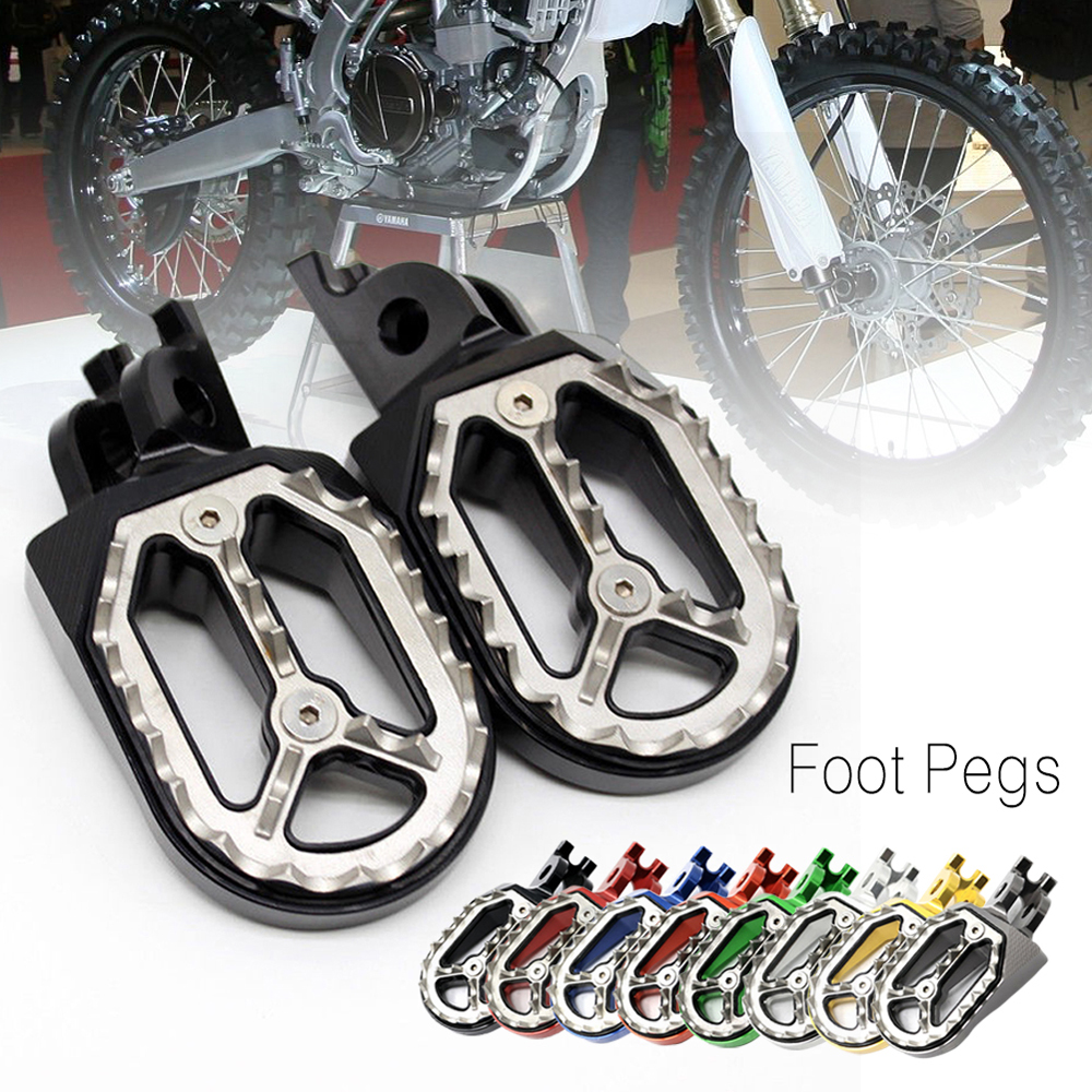 CNC Foot Pegs For Yamaha YZ450F YZ250F YZ250 YZ125 YZ85 Racing Motocross Footpeg Motorcycle Swingarm Spools Slider Stand Screw