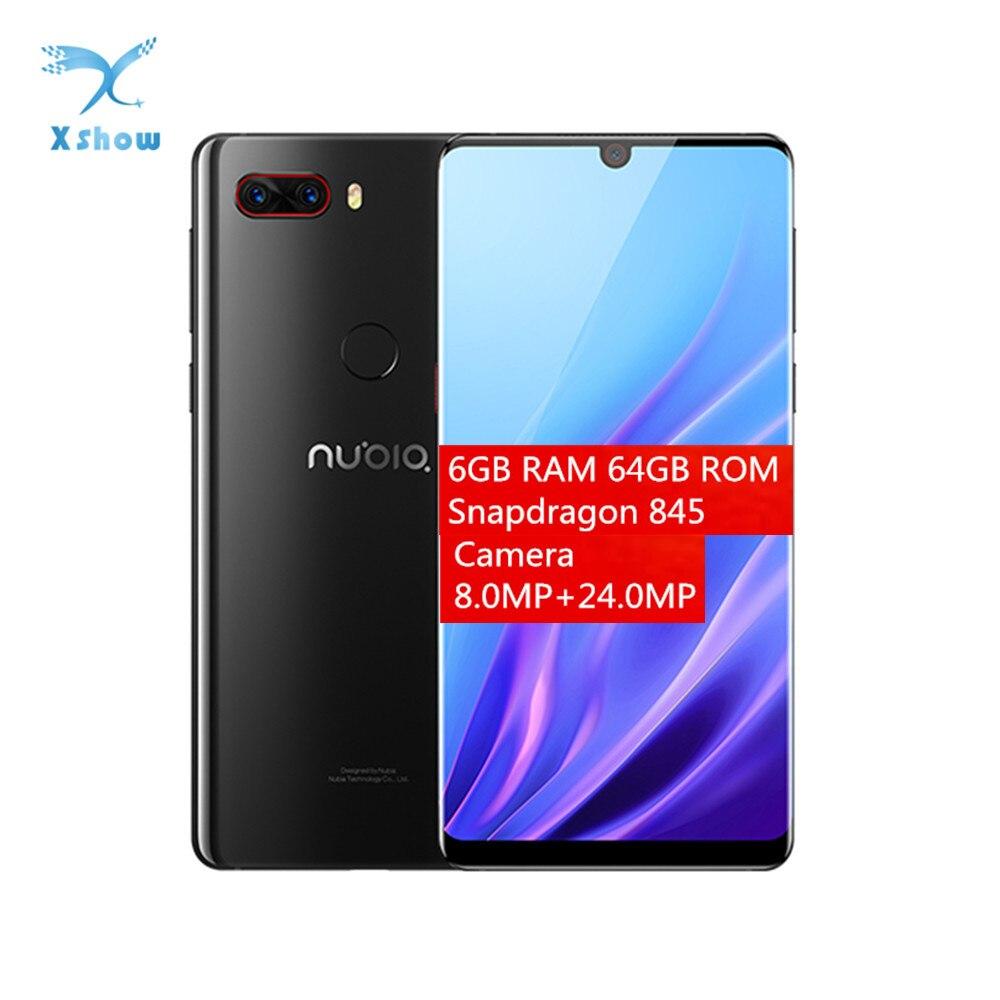 "Nubia Z18 смартфон 3450 мАч аккумулятор Snapdragon 845 6,0 ""6 ГБ ОЗУ 64 Гб ПЗУ двойная задняя камера 16 Мп + 24 МП 1080P NFC мобильный телефон Смартфоны и мобильные телефоны      АлиЭкспресс"