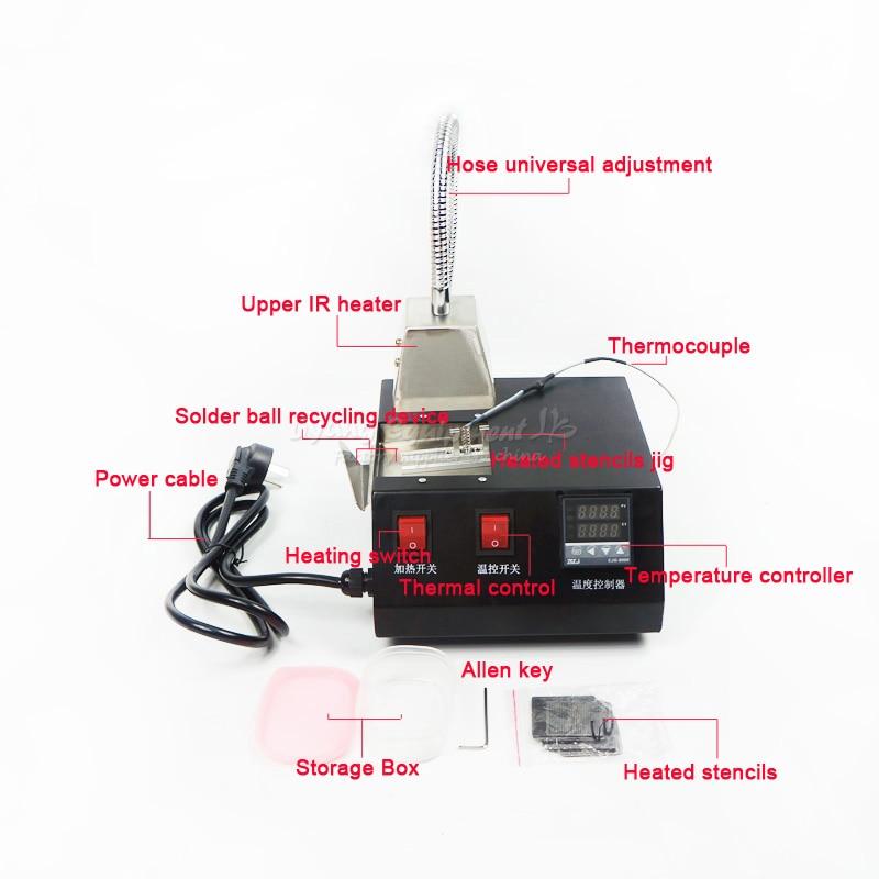 2017 LY M700 reball machine 220V 200W with direct heat universal stencil 16 pcs set промышленная машина ly 10 bga 0 25 0 3 0 35 0 4 0 45 0 5 0 55 0 6 0 65 0 76 direct heat stencil 10 pcs