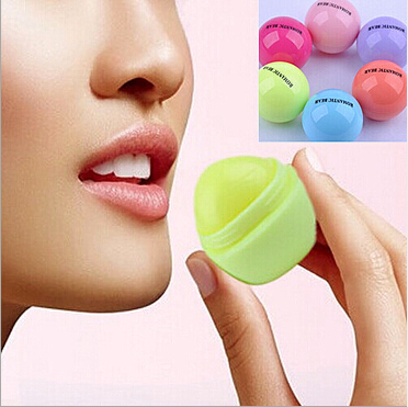 Sabor frutado Lip Balm Maquiagem Balm Lipbalm Bola Redonda Bonito Planta Natural Lábios Cuidados Nutritivos Hidratante