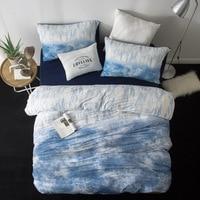 Набор постельного белья с принтом оленя, хлопковый комплект постельного белья, уникальный дизайн, королева/король размер, пододеяльник