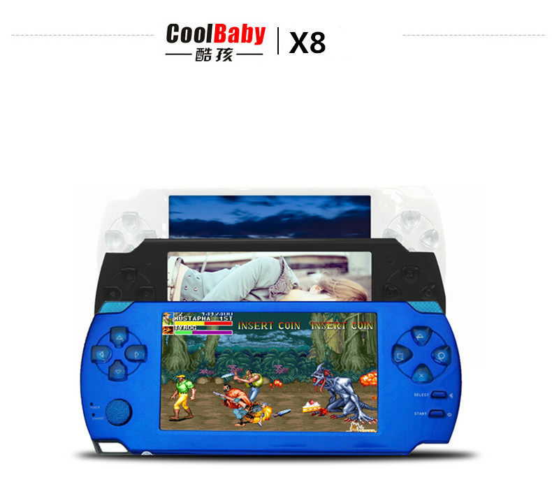 ФОТО Coolbaby X8 intelligence console hundreds Arcade game consoles Camera MP3 MP4 ebook handheld console
