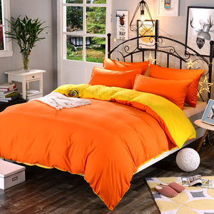 Image 3 - 1pcs Cotton Blend Duvet Cover Solid Color Reactive Printing Comforter Cover Twin Full Queen King Size