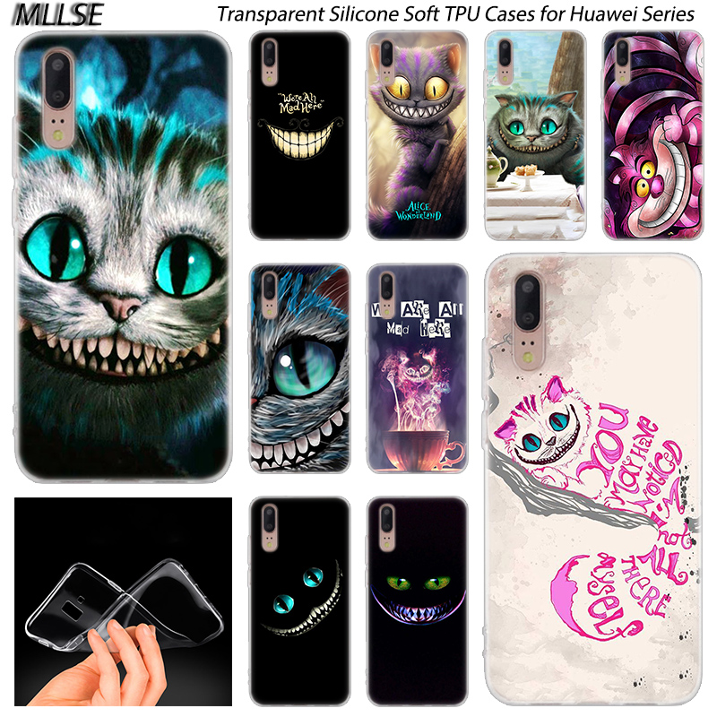 Anime Cheshire Cat alice in wonderland Silicone Case for Huawei ...