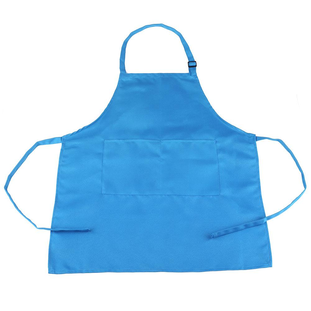 3 цвета, милый детский фартук с рисунком, фартук без рукавов, фартук с карманами, кухонный фартук, художественный нагрудник - Цвет: blue