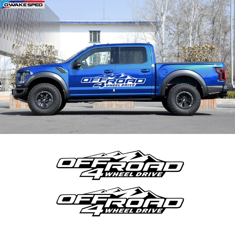 4 X 4 vinyl decal 4 by 4 Truck SUV This is for 2 Vinyl Decals Free Shipping