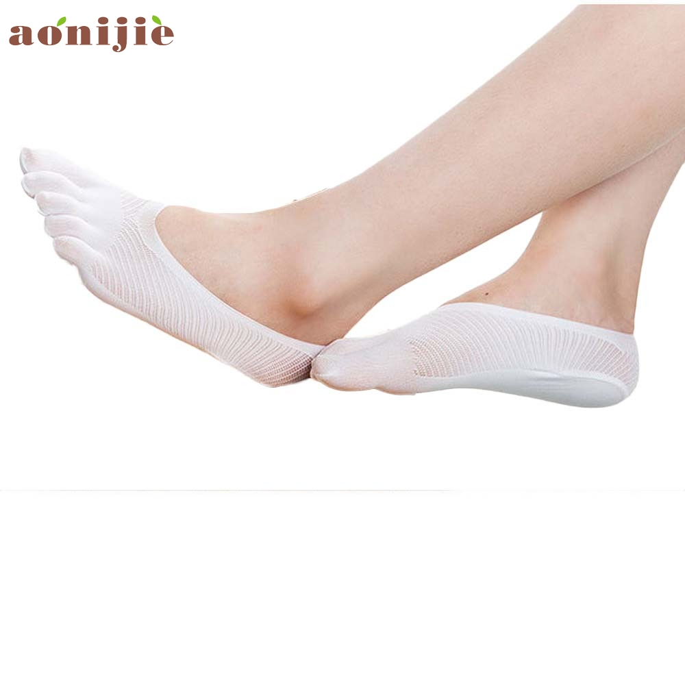 a few days away outlet store sale official photos US $0.6 50% OFF|New Women Low Socks Invisible Cotton Boat Socks Slippers  girl five fingers socks Yoga Sport Massage grip female Toe Sock Jan20YP on  ...