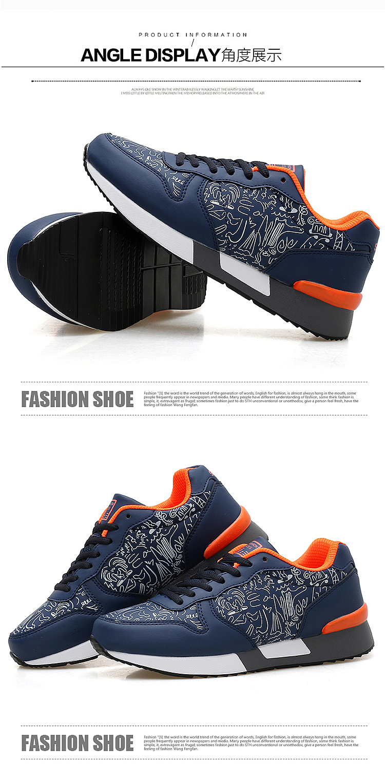 2017 Spring Graffiti Valentine Shoes Women Flat Heel Lace Up Leather Casual Shoes Plush Size 44 Low Top Sport Outdoor Shoes ZD43 (76)