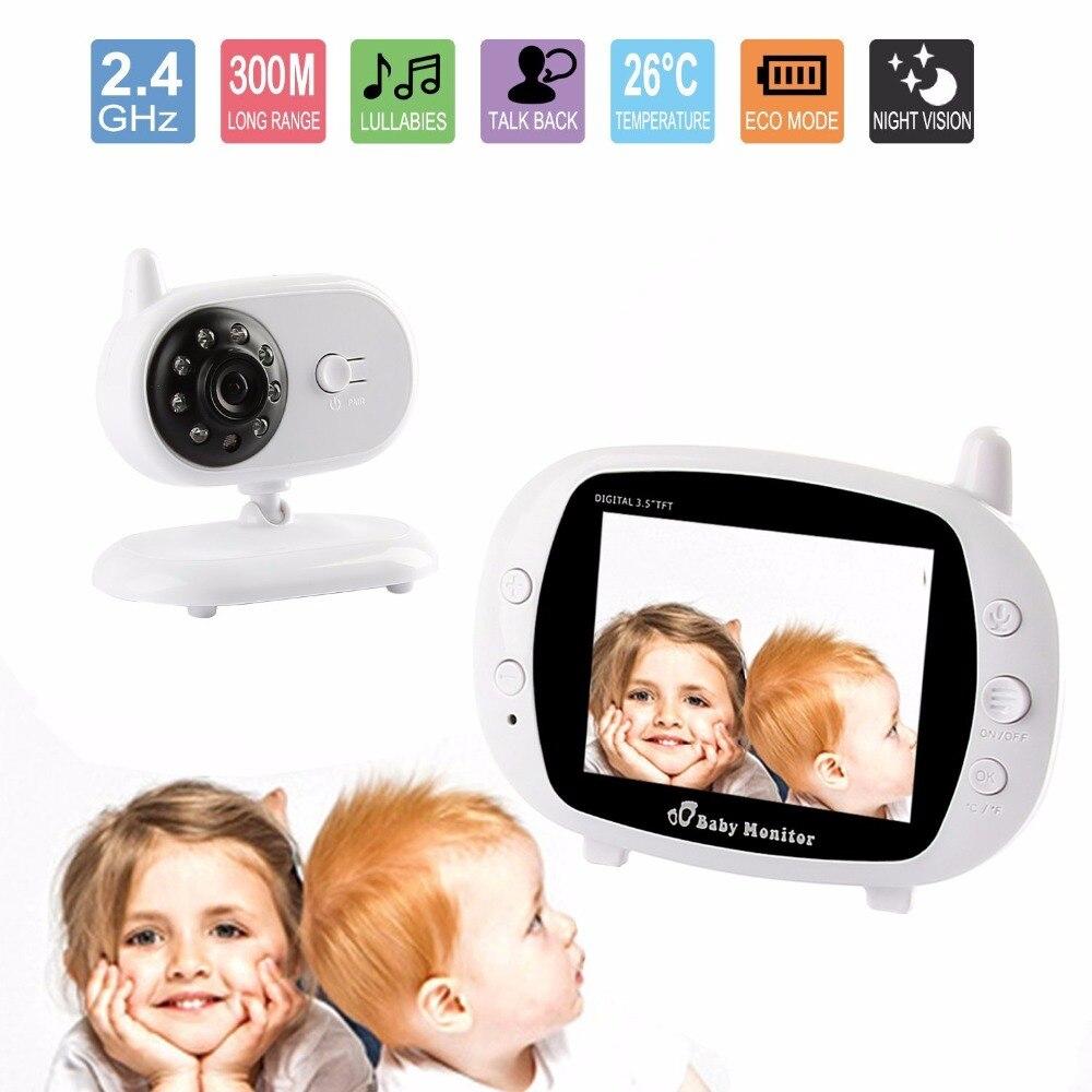 babykam video camera for video surveillance 3.5 inch IR Night Vision Intercom Lullabies Temperature Monitor babyfoon met camera