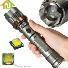 1200LM Rechargeable XM-L T6 LED Flashlight Torch Zoomable  18650 Tactical Flash Light for Outdoor Camping Hiking