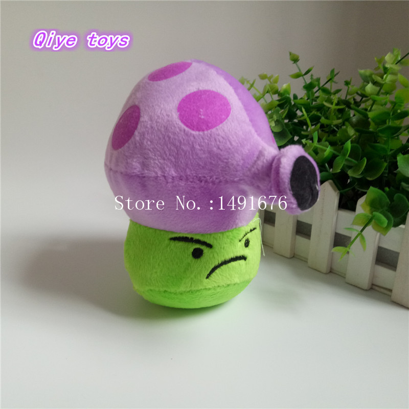 Lovely Plant Vs Zombies Popcap Purple Night Mushroom Plush Toys