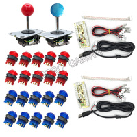 DIY Arcade Game kit parts with PC/PS2/PS3 USB Zero Delay Encoder+Copy SANWA Joystick+ Led Push Button+cable for Game Machines