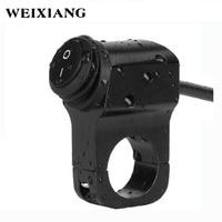 Waterproof 12V 7 8 22mm Motorcycle Handlebar Mount Control Switches Headlight Brake Fog Hazard Light ON