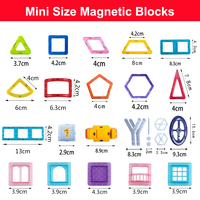 110 252pcs Mini Size Magnetic Designer Construction Set Model & Building Toy Magnets Magnetic Blocks Educational Toys