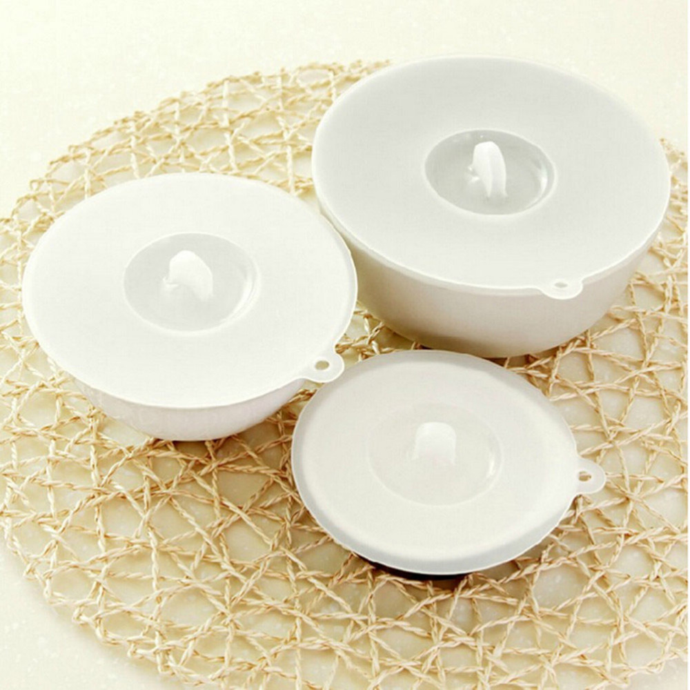 3 Size Silicone Bowl Pan Cup Covers Basin Microwave Lids Cooking Tools Lid Boil Cookware Cover