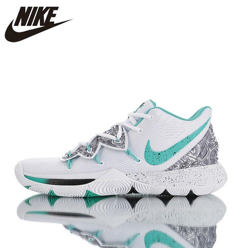 5b879231a8ee4 Nouveauté originale chaussures Nike Kyrie 5 basketball pour hommes,  respirant, antidérapant, résistant à