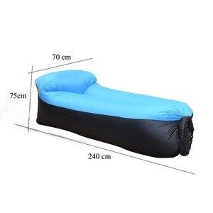 Image 4 - קמפינג שק שינה עמיד למים מתנפח תיק עצלן ספה קמפינג שקי שינה אוויר מיטה למבוגרים חוף טרקלין כיסא מהיר מתקפל