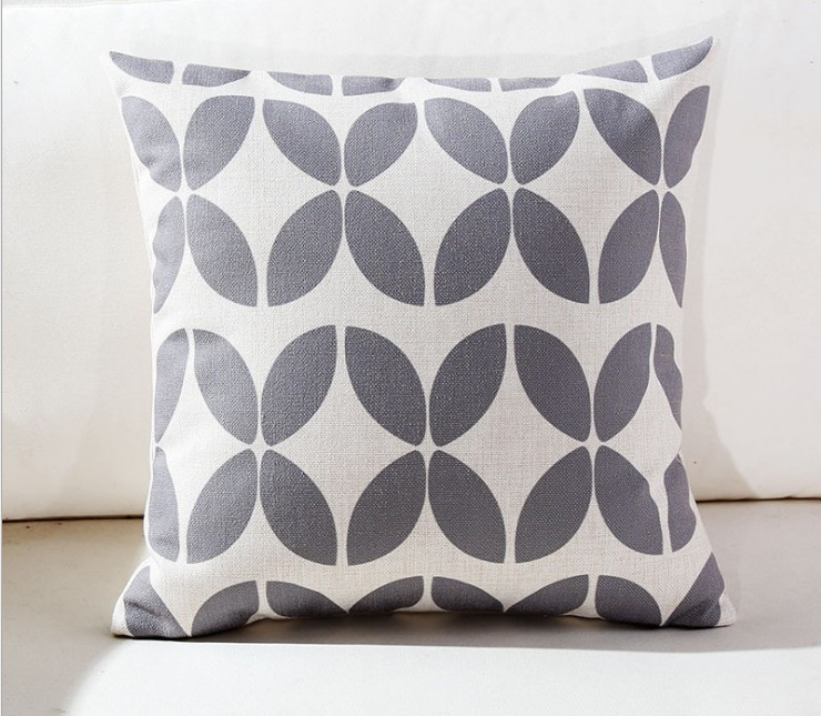 Geometric Cushion Cover Home Decor Gray Decorative Pillows Case